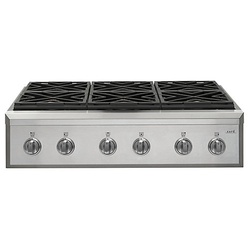 36-inch Gas Cooktop in Stainless Steel with 6 Elements