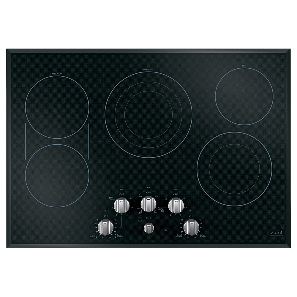 Café 30-inch Radiant Electric Cooktop in Stainless Steel with 5 Elements including Sync-Burners