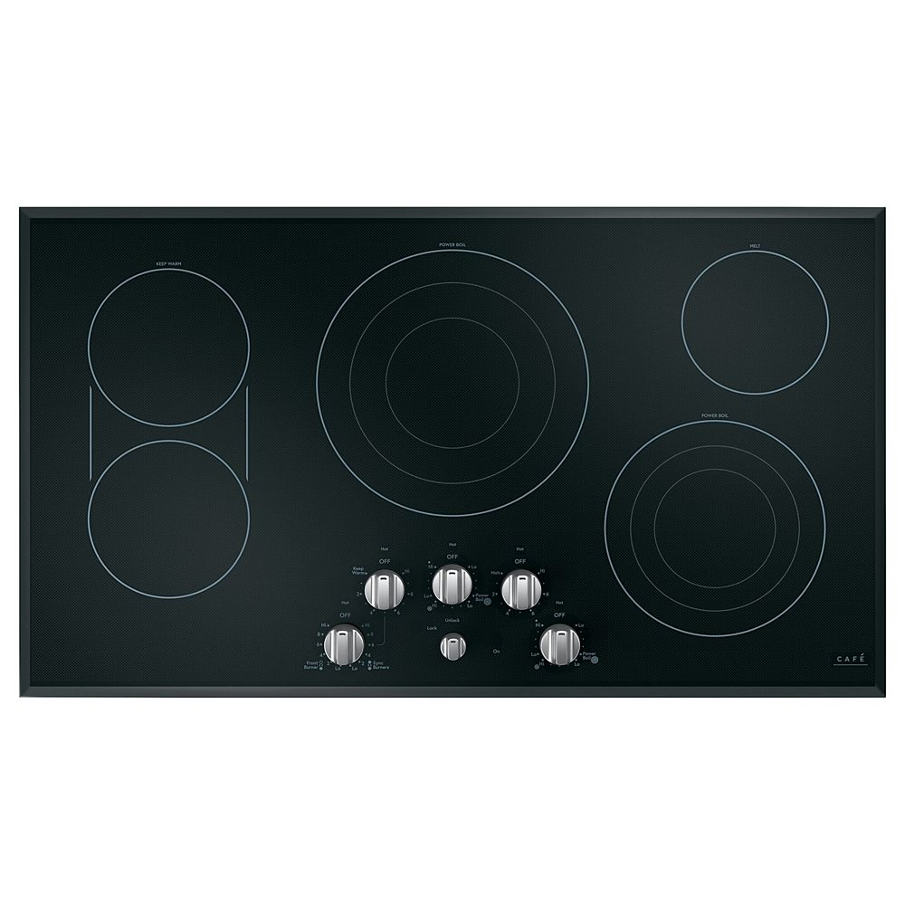 Café 36-inch Radiant Electric Cooktop with in Stainless Steel with 5 Elements including Sync-Burners