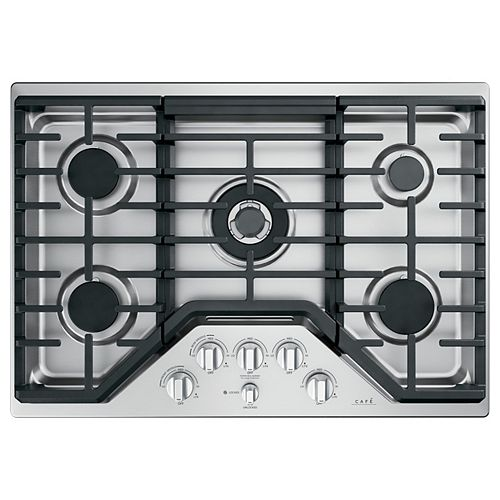 30-inch Gas Cooktop in Stainless Steel with 5 Burners including 20,000 BTU Triple Burner