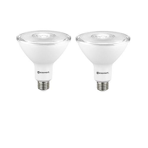 Ecosmart 120W Equivalent Bright White (3000K) PAR38 Non-Dimmable LED Light Bulb (2-Pack)
