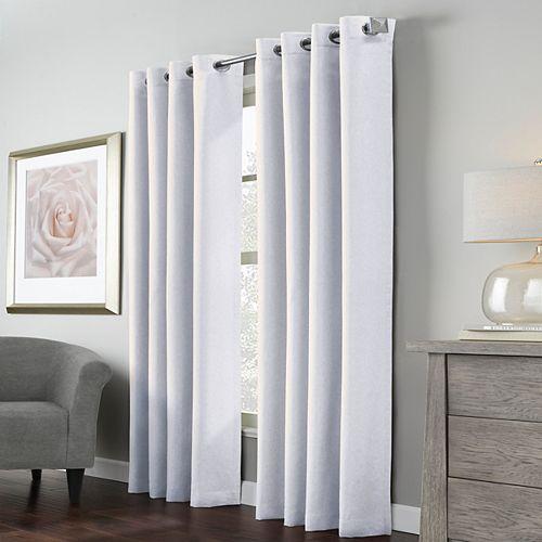 Habitat Margaret rideau à oeillets faux lin filtre la lumière 132 cm x 213 cm blanc