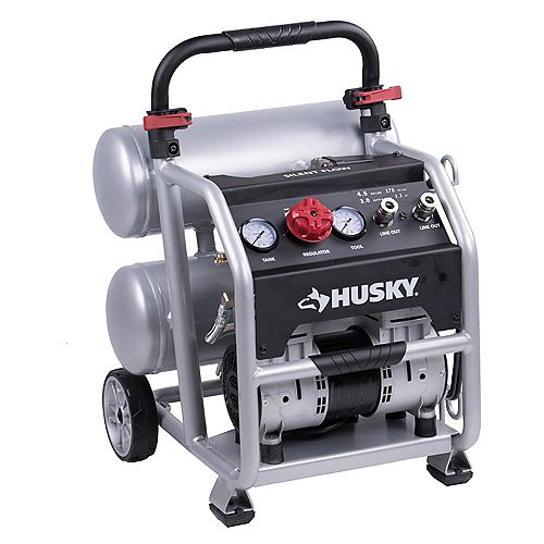 17L (4.5 Gal.) Portable Electric Twin Stack Silent Air Compressor
