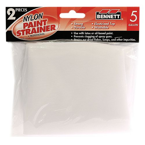 BENNETT 2 Pack Paint strainer, 5 Gallon
