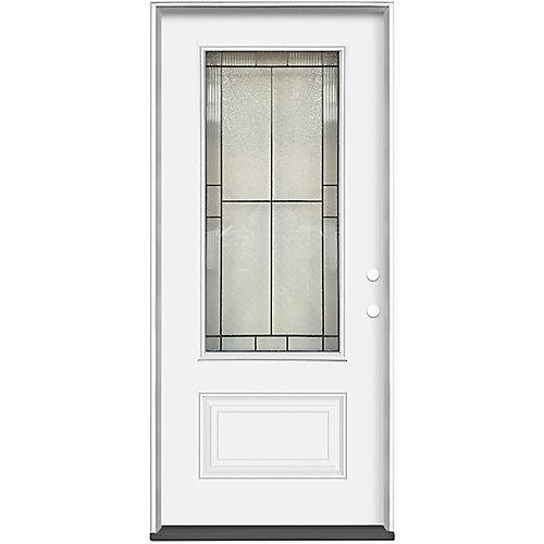 32 x 4 9/16 Antique Black 3/4 Lite Entry Door LH