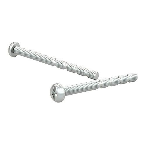 6-Pack, Break-Away Zinc Plated Machine screw, M4, Type B Point