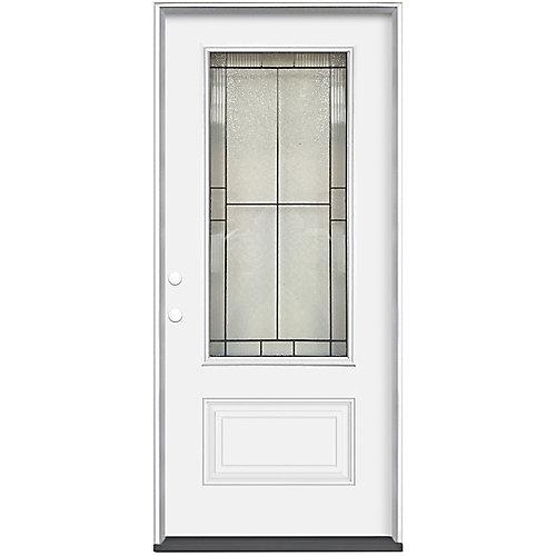 36 x 4 9/16 Antique Black 3/4 Lite Entry Door RH
