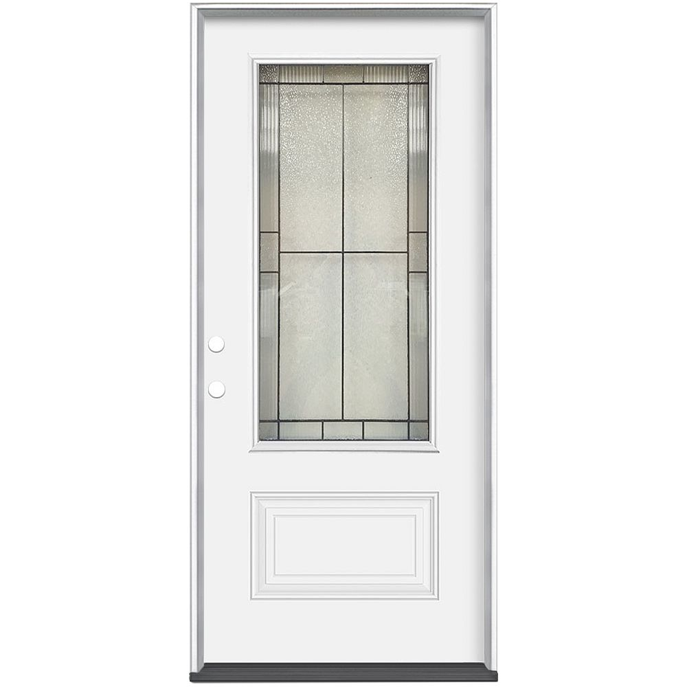 Masonite 36-inch x 80-inch x 4-9/16-inch Antique Black 3/4 Lite Right Hand Entry Door
