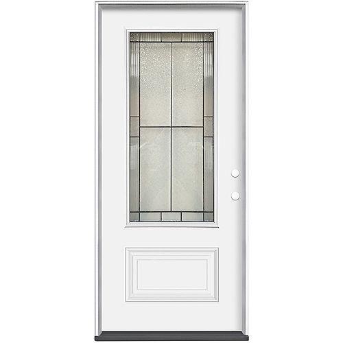 36-inch x 80-inch x 4-9/16-inch Antique Black 3/4 Lite Left Hand Entry Door