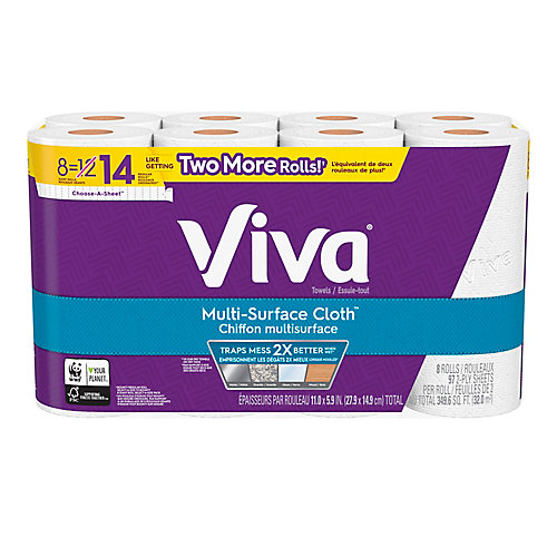Multi-Surface Cloth Choose-A-Sheet Paper Towel Giant Roll (8-Pack)