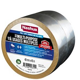 48mm x 46m 322 Multi-Purpose Foil Tape (2-Pack)