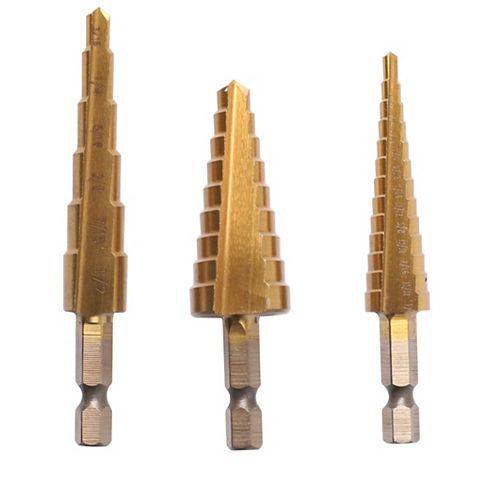 Anvil 3-Piece Step Drill Bit Set