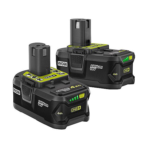 18V ONE+ Lithium-Ion Battery Pack 4.0 Ah (2-Pack)