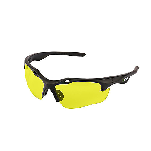 POWER+ Anti-Scratch Safety Glasses with UV Protection in Yellow Lenses