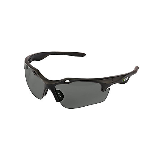 POWER+ Anti-Scratch Safety Glasses with UV Protection in Grey Lenses