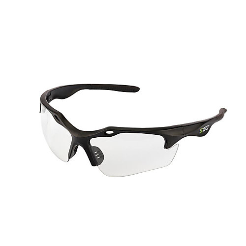 POWER+ Anti-Scratch Safety Glasses with UV Protection in Clear Lenses