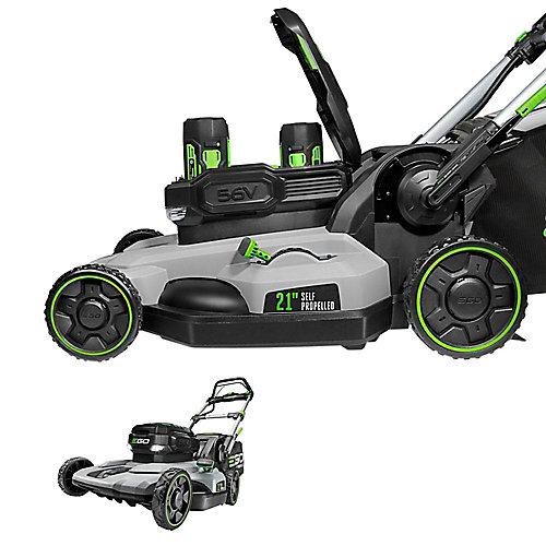 POWER+ 21-in 56V Li-Ion Cordless SelfPropelled Lawn Mower Kit w/ (2) 5.0Ah Batteries & Rapid Charger