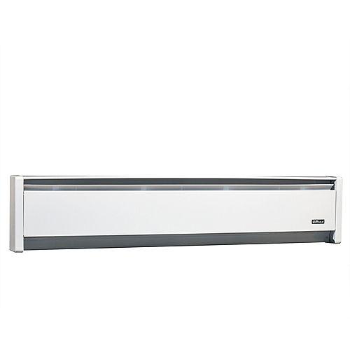 750W 240V, 47 inch SoftHeat hydronic baseboard, white