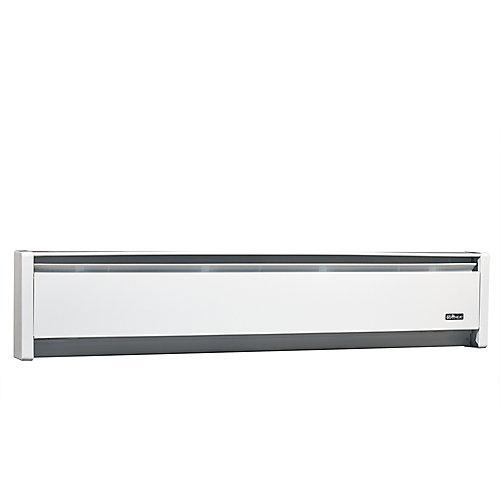 1000W 240V, 59 inch SoftHeat hydronic baseboard, white