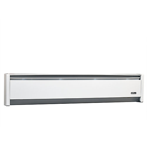 1250W 240V, 71 inch SoftHeat hydronic baseboard, white
