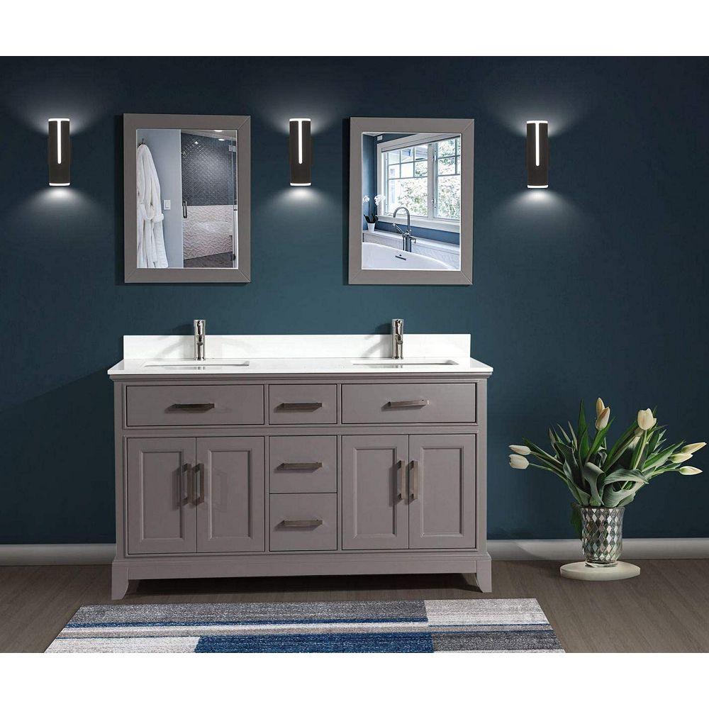 Vanity Art Genoa 72 Inch Vanity In Grey With Double Basin Vanity Top In White Phoenix Ston The Home Depot Canada