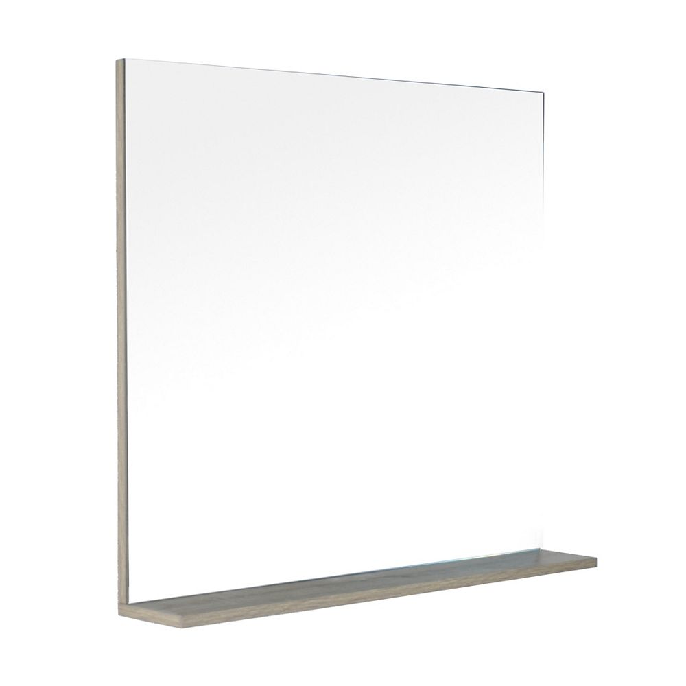 LUKX Modo David 32 inch Bathroom Vanity Mirror with Shelf in the colour Urban