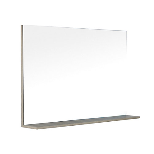Modo David 48 inch Bathroom Vanity Mirror with Shelf in the colour Urban