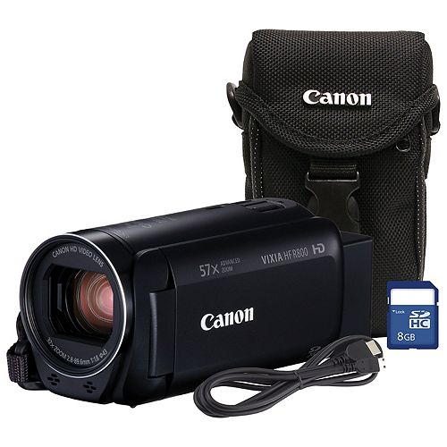 VIXIA HF R800 Camcorder Bundle with Case and 8GB SD Card