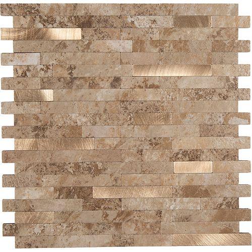 11.5X11.7 Sable Bronze Peler et coller Métal et PVC