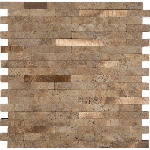11.5X11.7 Bronze Ciment Peler et coller Métal et PVC
