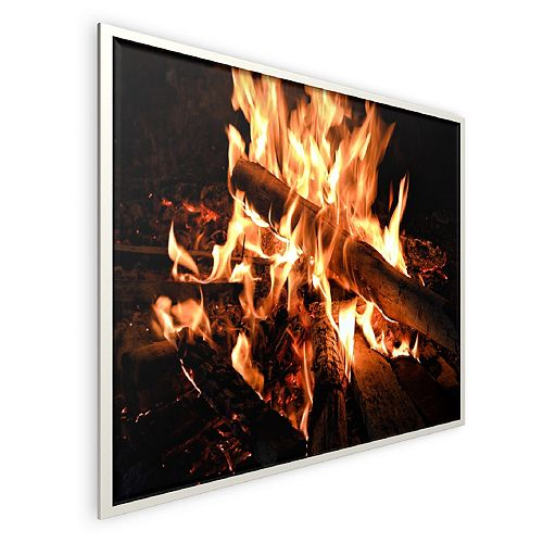 Infrared Panel Heater 400W Fireplace Design