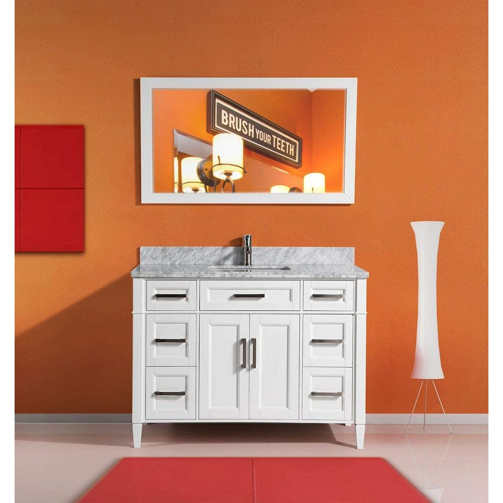 Vanity Art Savona 60 Inch Vanity In White With Single Basin Vanity Top In White And Grey M The Home Depot Canada