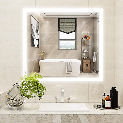 LED mirror with touch sensor. 5500K LED. 7 lumen for each LED, each LED 0.7W, total LED 162-Piece