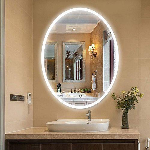 Miroir de salle de bains à DEL avec interrupteur tactile. DEL 5500K. 0.7W, 123pcs.