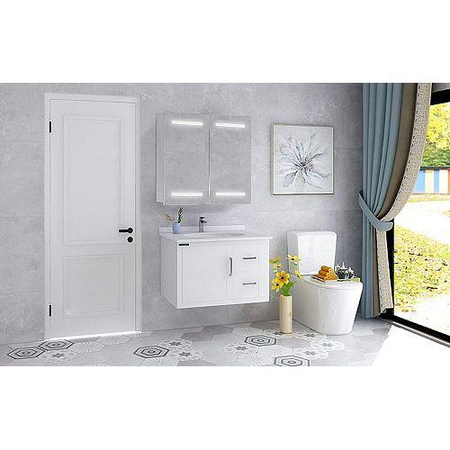 Armoire pharmacie avec miroir de salle de bains à DEL avec interrupteur manuel. 5500K, 0.7W, 60pcs