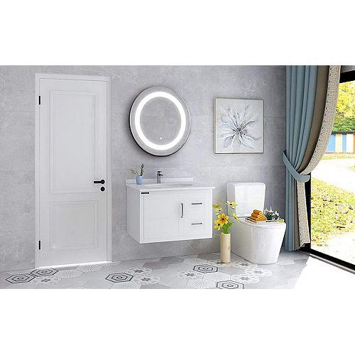 Miroir de salle de bains à DEL avec interrupteur à capteur. DEL de  5500K. 7 lumens, 0.7W, 78pcs.