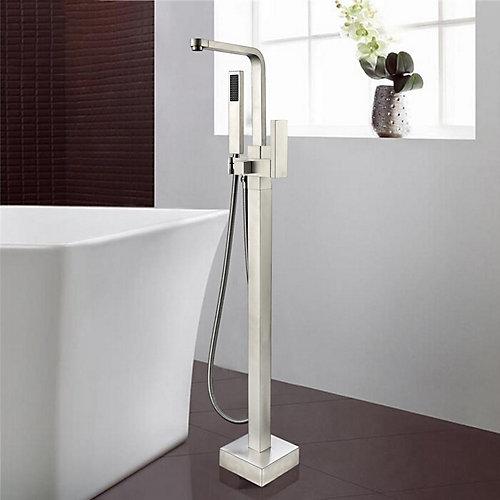 Freestanding faucet with shower head in brushed nickel VA2016-BN