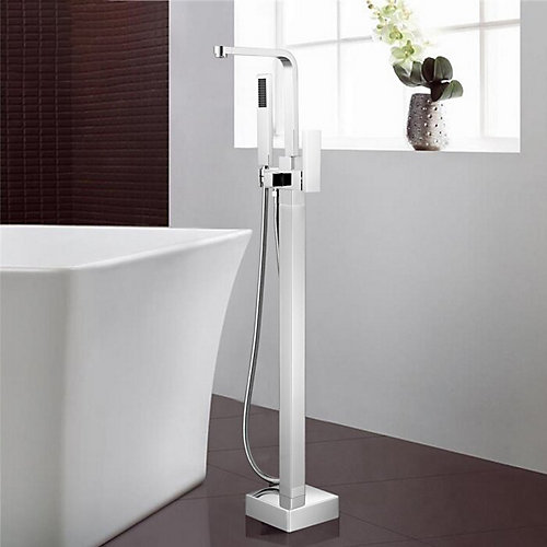 Freestanding faucet with shower head in polished chrome VA2016-PC