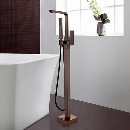 Freestanding faucet with shower head in oil-rubbed bronze VA2016-ORB