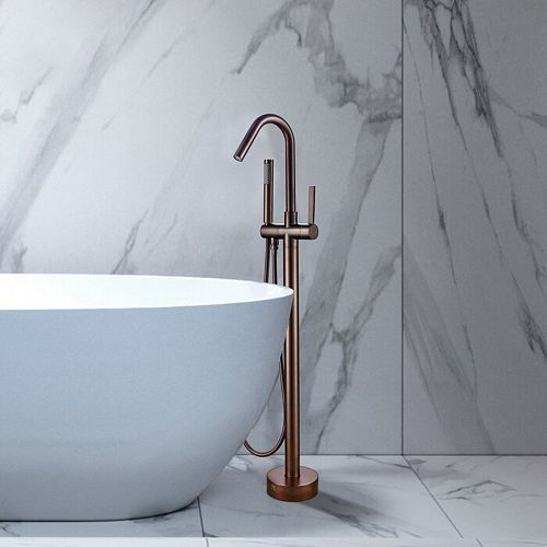 Freestanding faucet with shower head in oil-rubbed bronze VA2034