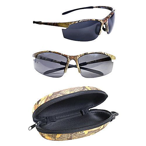 Polarized Camo Sunglasses with Hard Black Case (2-Pack)