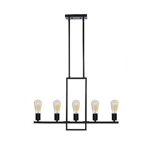 Luminaire suspendu a 5 ampoules