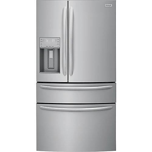 Réfrigérateur à portes françaises, 36 po, 21.8 pi3, profondeur de comptoir, acier inoxydable - ENERGY STAR®