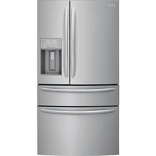 Frigidaire Gallery 36-inch W 21.8 cu. ft. 4-Door French Door Refrigerator in Stainless Steel, Counter Depth - ENERGY STAR®