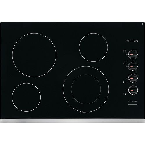 Frigidaire 30-inch Electric Cooktop with 4 Elements including Quick Boil Element in Stainless Steel