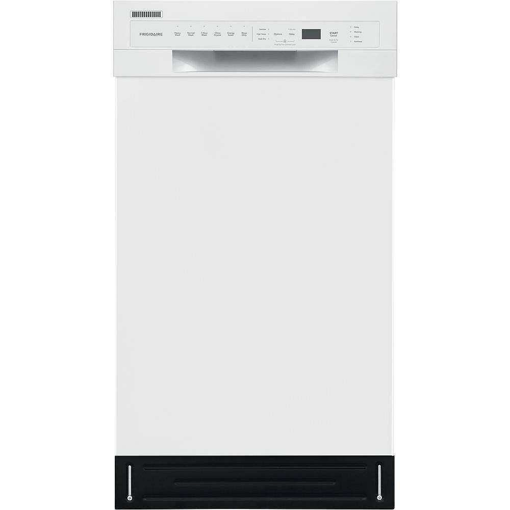 Frigidaire 18-inch Front Control Dishwasher in White - ENERGY STAR®