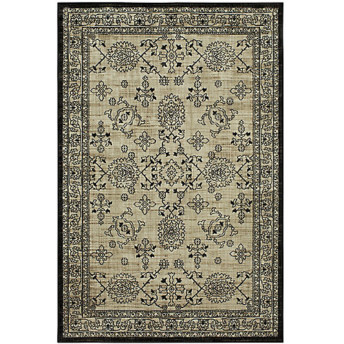 Hiram Oyster 5 ft. x 7 ft. Woven Indoor Area Rug