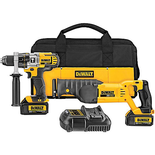 20V MAX 2 Tool (DCD985 & DCS380) with 2 Batteries (3.0Ah) and Bag