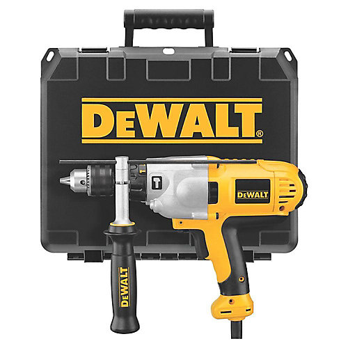 1/2-inch 2-Speed Mid Handle Hammerdrill 10 Amp with Kit Box