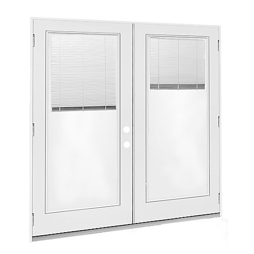 6 ft. French Door LH Outswing with internal Mini Blinds door glass